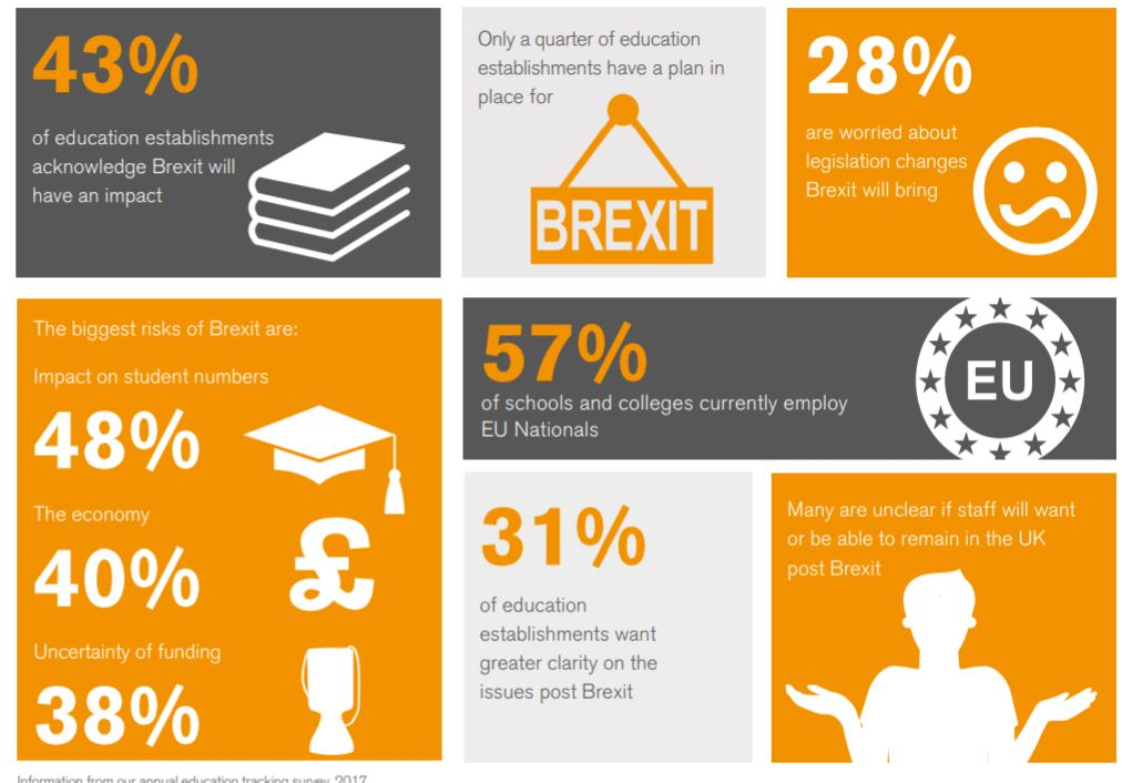 Education and brexit infographic