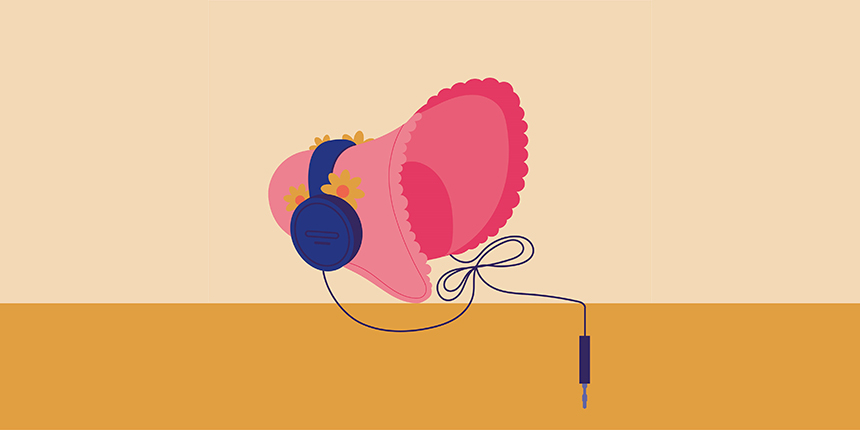 heritage barometer vector image - bonnet and headphones