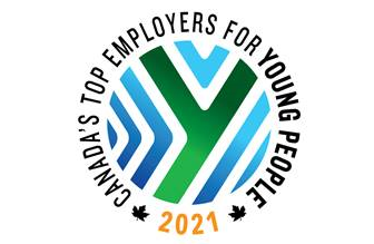 Logo for Canada's top employers of young people